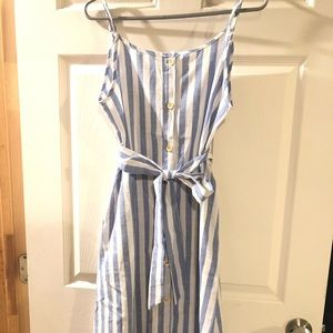 Blue/White Striped Tie Dress